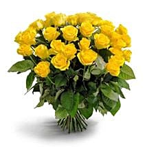 50 Long Stem Yellow Roses: Send Flowers to Ontario