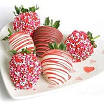 6 Choco Covered Strawberries: Send Birthday Gifts to Fremont