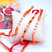 Affectionate Set of 3 Rakhis: Rakhi Delivery in USA