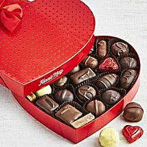 Assorted Chocolate Heart Box: Valentine's Day Gift Delivery in USA