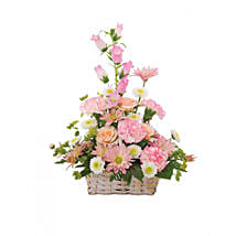 Basket of Cheer: Send Carnations Flowers to USA