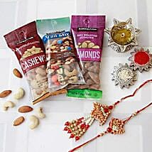 Bhaiya Bhaiya Rakhi with Dry Fruits: Rakhi Delivery in Detroit