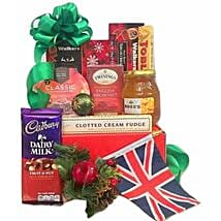 British Xmas Treats Box: Christmas Gift Baskets to USA
