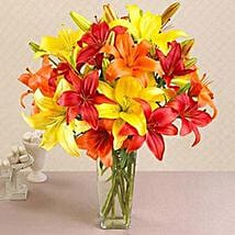 California Mixed Asiatic Lilies: Valentine's Day Gifts to Houston