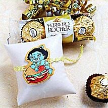 Cartoon Rakhi With Rocher: Rakhi Delivery in USA
