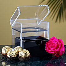 Charming Forever Rose Chocolates: Flowers and Chocolates Delivery in USA