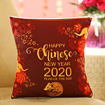 Chinese New Year Greetings Cushion: Chinese New Year Gift Delivery in USA
