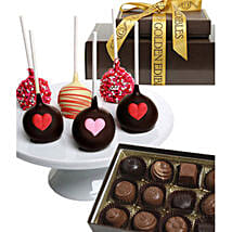 Chocolate Covered Cake Pops N Truffles: Valentine's Day Gift Delivery New Jersey