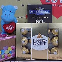Chocolates N Soft Toy Combo: Return Gifts to USA