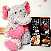 Chocolates With Soft Toy: Soft Toys Delivery in USA