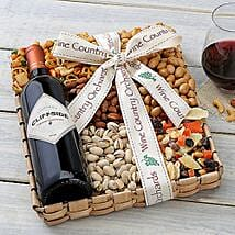 Cliffside Cabernet N Nuts Hamper: Thanks Giving Day Gifts to USA