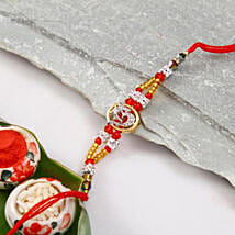 Colorful Om Designer Rakhi: Send Rakhi to USA