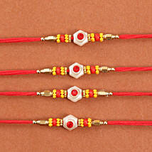 Colorful Rakhi Set Of 4: Send Rakhi to Chicago