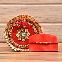 Decorative Rakhi With Puja Thali: Rakhi Delivery in Jersey City