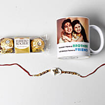 Designer Rakhi And Personalized Photo Mug: Rakhi to Madison