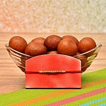 Designer Rakhi With Gulab Jamun: Send Rakhi to New Jersey