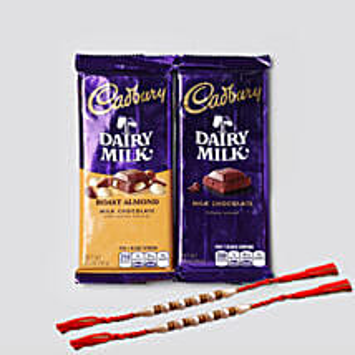 Designer Rakhis And Cadbury Combo: Rakhi for Brother in USA