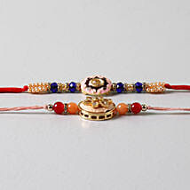 Embellished Beads Rakhis Set Of 2: Rakhi to Madison