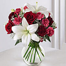 Enduring Romance Bouquet: Send Christmas Gifts to USA