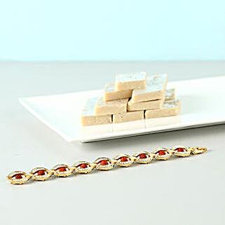Extravagant Bracelet Rakhi Combo: Send American Diamond Rakhi to USA