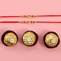 Fancy Rakhis With Rocher: Mauli Rakhi Delivery in USA
