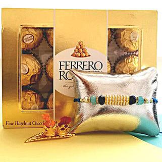 Ferrero Rocher With Designer Rakhi: Send Rakhi for Brother to USA