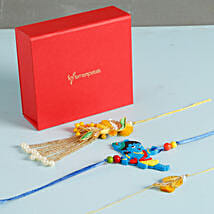 Glittering Rakhis Set Of 3: Send Rakhi to Madison