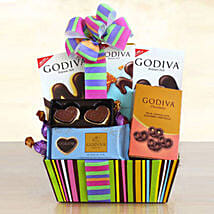 Godiva Galore Gift Basket: Send Friendship Day Gifts to USA