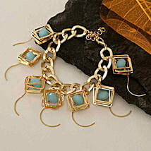 Golden Chain Bracelet: Return Gift Delivery in USA