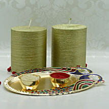 Golden Glory Diwali Puja Thali: Diwali Gifts to New York