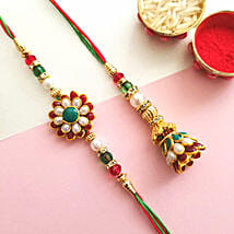 Gorgeous Bhaiya Bhabhi Rakhi: Rakhi Delivery in USA
