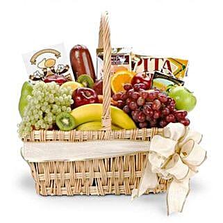 Gourmet Fruit Basket: Send Valentines Day to USA