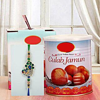 Gulab Jamun N Rakhi: Send Rakhi to California