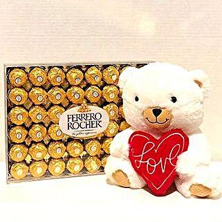 Hallmark Bear N Ferrero Rocher: Soft Toys Delivery in USA