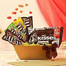 Hersheys Kisses Chocolate N Assorted M and Ms: Chinese New Year Gift Delivery in USA