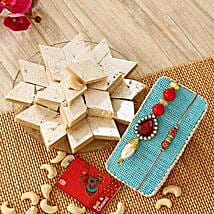 Kaju Katli N Stunning Rakhi: Send Rakhi to USA