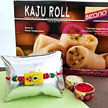 Kaju Roll And Rakhi Combo: Rakhi to Plano
