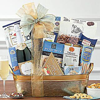 Kiarna California Champagne Basket: Christmas Gift Baskets to USA