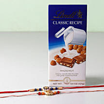 Lindt Classic With Set of 2 Rakhis: Rakhi Delivery in USA