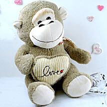 Love Monkey Soft Toy: Send Valentine Gifts to Houston