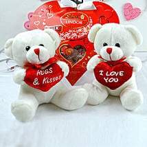 Love Teddies N Chocolates Combo: Valentine's Day Gifts to Houston