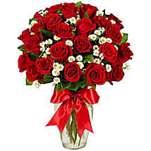Luxury Two Dozen Red Roses Bouquet: Send Roses to USA