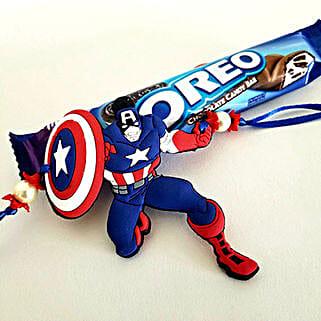 Oreo And Captain America Rakhi: Rakhi & Chocolates USA