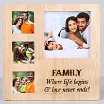 Perfect Family Personalised Photo Frame: Send Anniversary Gifts to USA