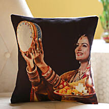Personalised Cushion For Gorgeous Wife: Send Karwa Chauth Gifts to USA