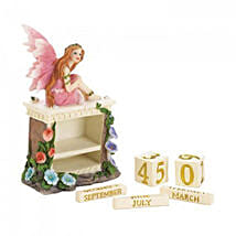 Pink Fairy Block Calendar Figurine: Valentine Gifts for Her to USA