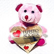 Pink Teddy With Chocolates: Send Valentine Gifts to San Francisco