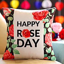 Pretty Rose Day Greetings Cushion: Rose Day Gift Delivery in USA