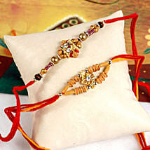 Radiant Rakhi Set: Send Rakhi to Detroit