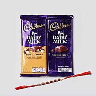 Rakhi And Dairy Milk Combo: Rakhi Delivery in USA